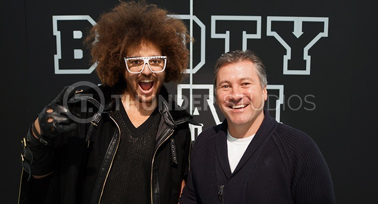 Redfoo stands with Rodric David