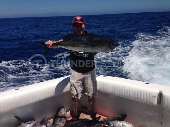 rodric david holding bluefin tuna