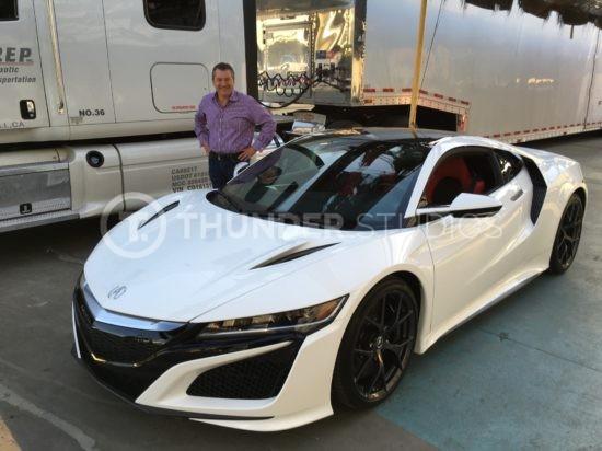 Rodric David and white Acura NSX