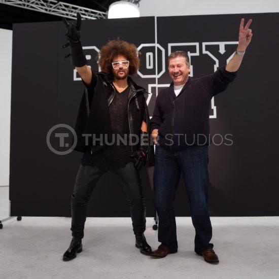 RedFoo and Rodric David at Thunder Studios Booty Man video