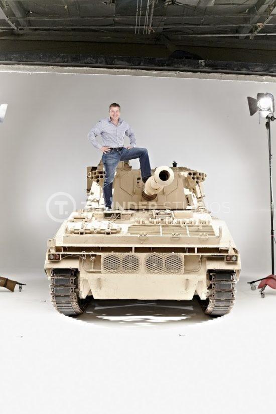 Rodric David on tank