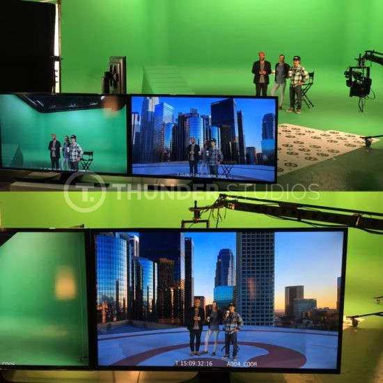 Rodric David with Virtual Reality Sets at Thunder Studios