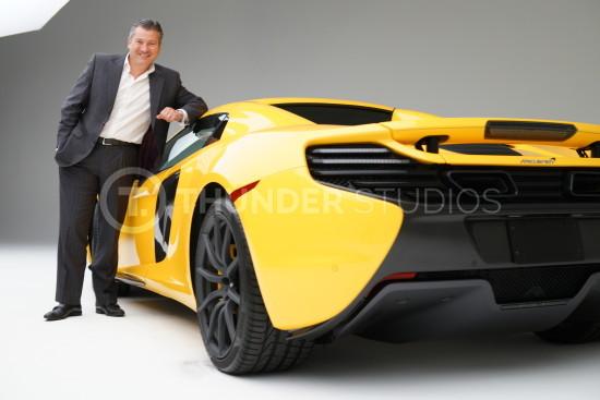 Rodric David and yellow McLaren