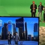 Rodric David blog on media disruption featured image of actors on green screen at Thunder Studios
