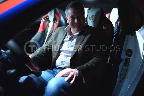 Rodric David inside LA Clippers Lexus